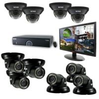 16 Channel Home Surveillance System with 10 Security Cameras