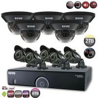 16 Channel 2TB DVR Surveillance System with 5 Bullet Cameras & 5 Dome Cameras