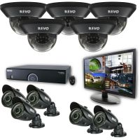 16 Channel DVR Surveillance System with 10 Security Cameras & Monitor