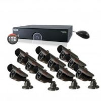 16 Channel Premium Night Vision Security System with 10 Bullet Cameras