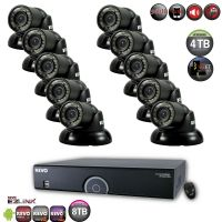 16 Channel 4TB DVR Surveillance System with Night Vision Mini Turret Cameras