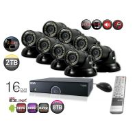 Home Security System with 16 Channel DVR 8 Mini Turret Cameras