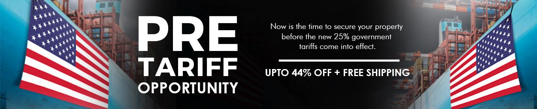 pre tarrif upto 44% off